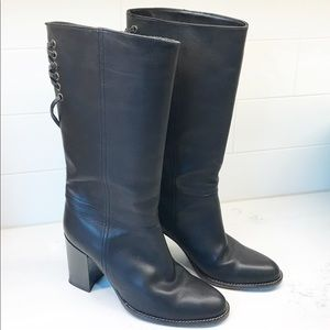 Like New Coach Coty Black Leather Boots